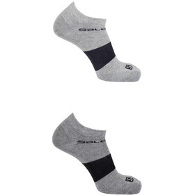 Salomon Festival Socks 2 pack, light grey/medium grey